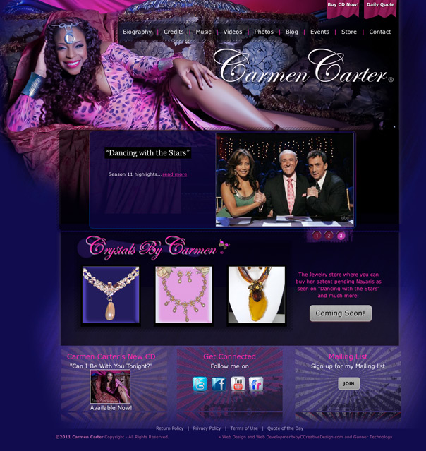 Carmen Carter's new website
