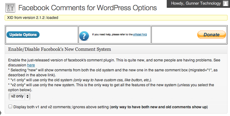 facebook comments for wordpress 4