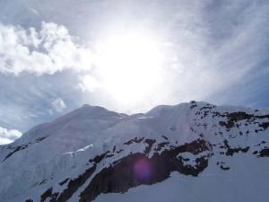Snowy Mountain Lens Flare