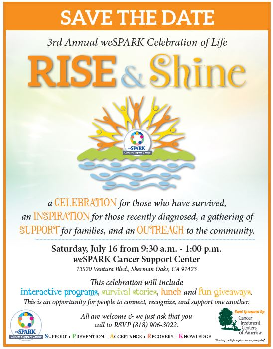 Rise and Shine 2016 Save the Date