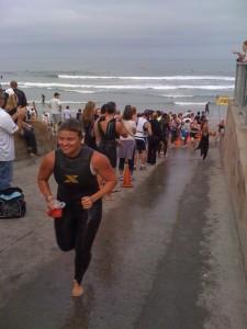Valli Gideons tri swim exit