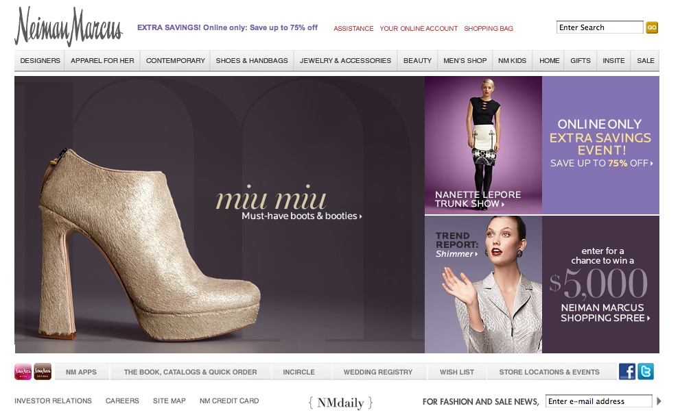 Neiman Marcus Sale: You're doing it wrong